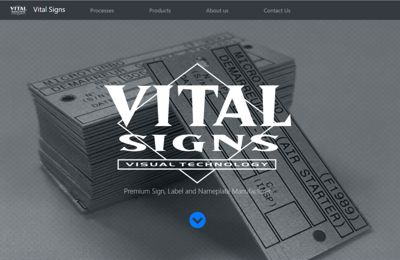 VItal Signs Website Preview